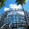 Dania Beach wooden roller coaster South Florida December 2007
